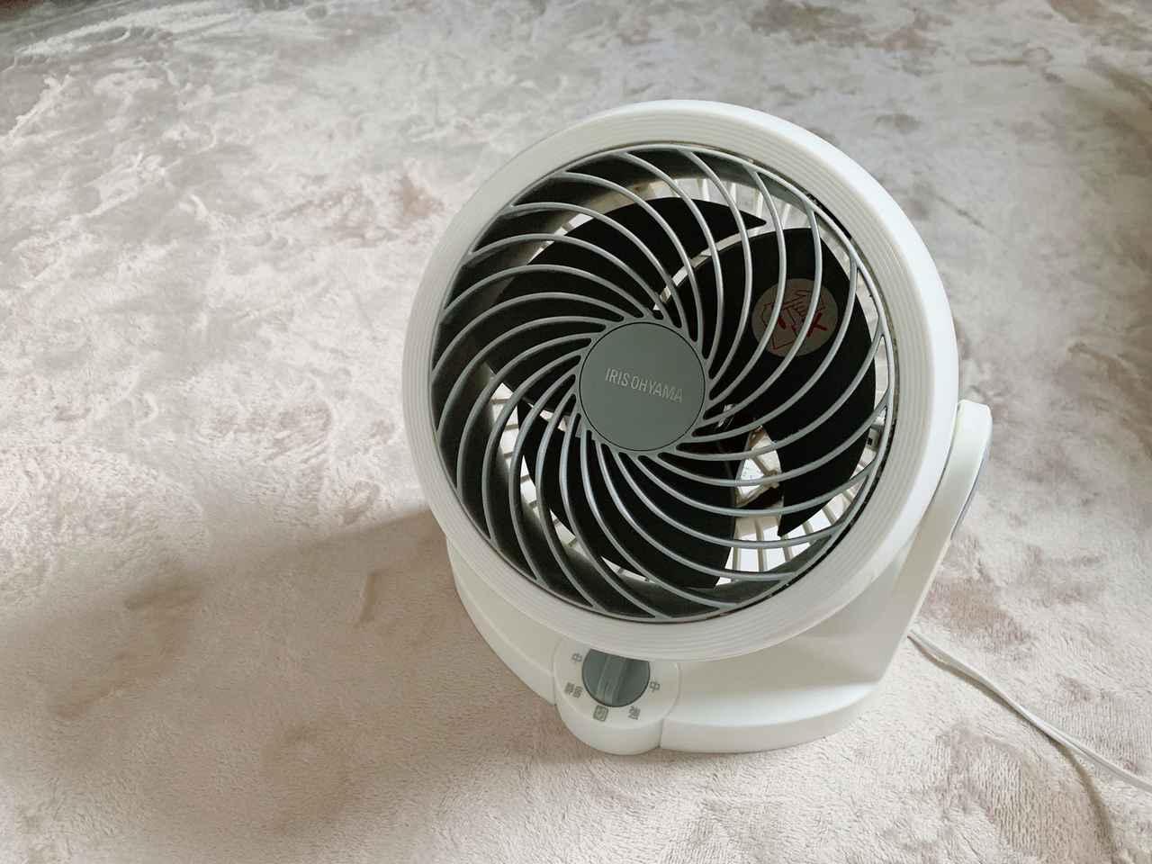 画像: 空気を効率的に循環してくれるサーキュレーターは一年中活躍! 室内でもキャンプにも使える