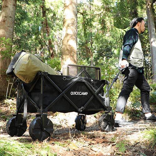 画像1: クイックキャンプ『ワイドホイールアウトドアワゴン』をレビュー! 大容量×大型ホイールで悪路もラクラク