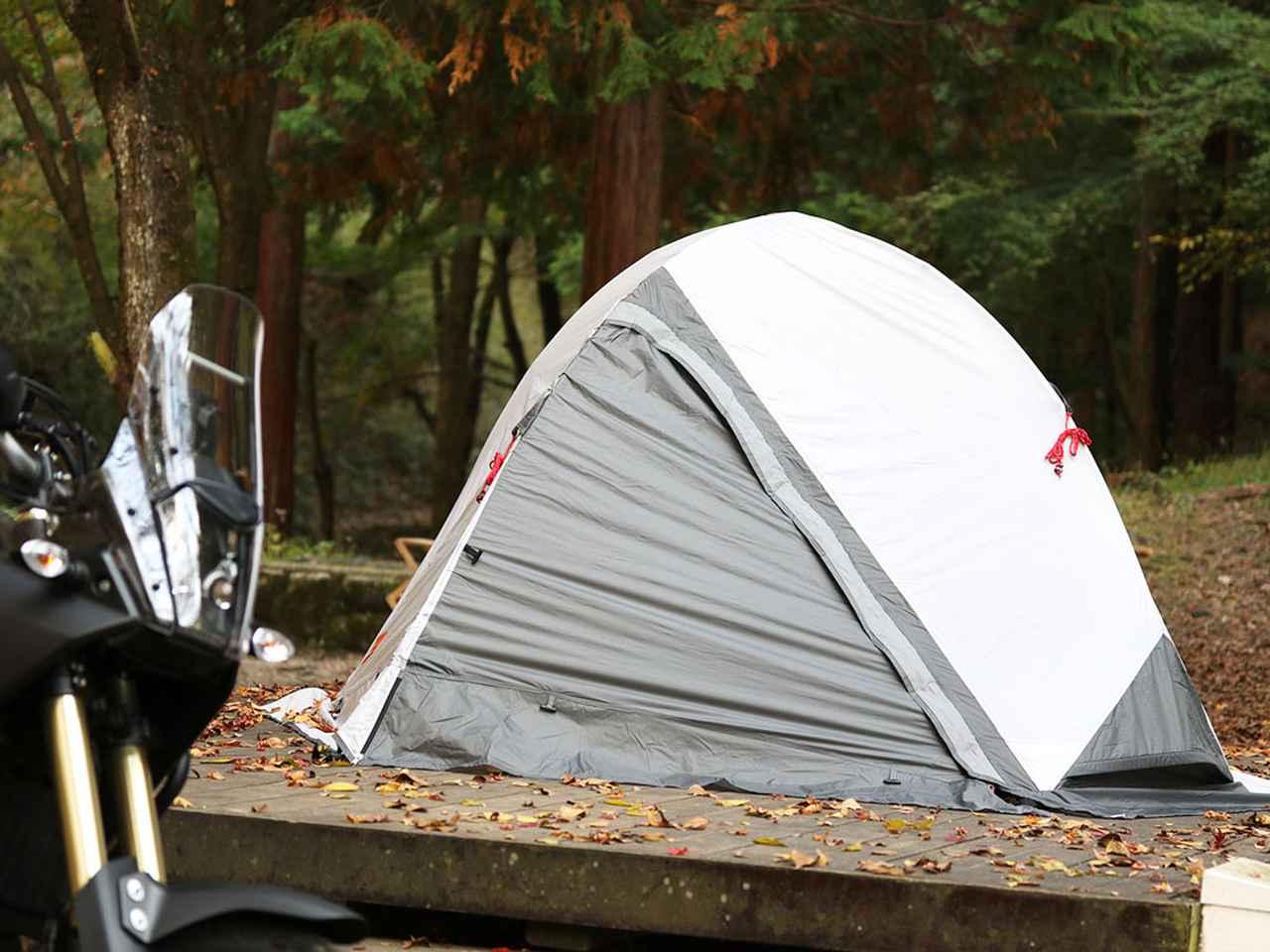 画像: バイクツーリングコットテント「DBT571-GY」コンクリ上でも前室が作れる、バイク乗りのビバークテント