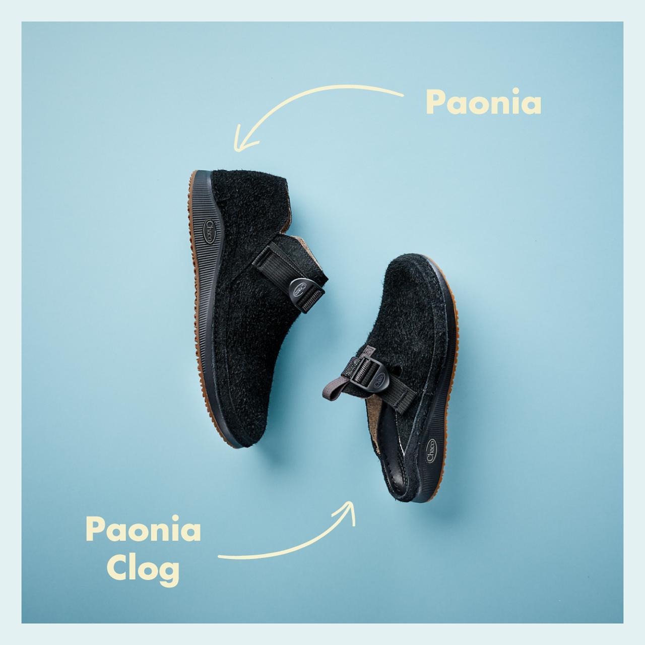 画像1: 「PAONIA(パオニア)」と「PAONIA CLOG(パオニアクロッグ)」の2モデル