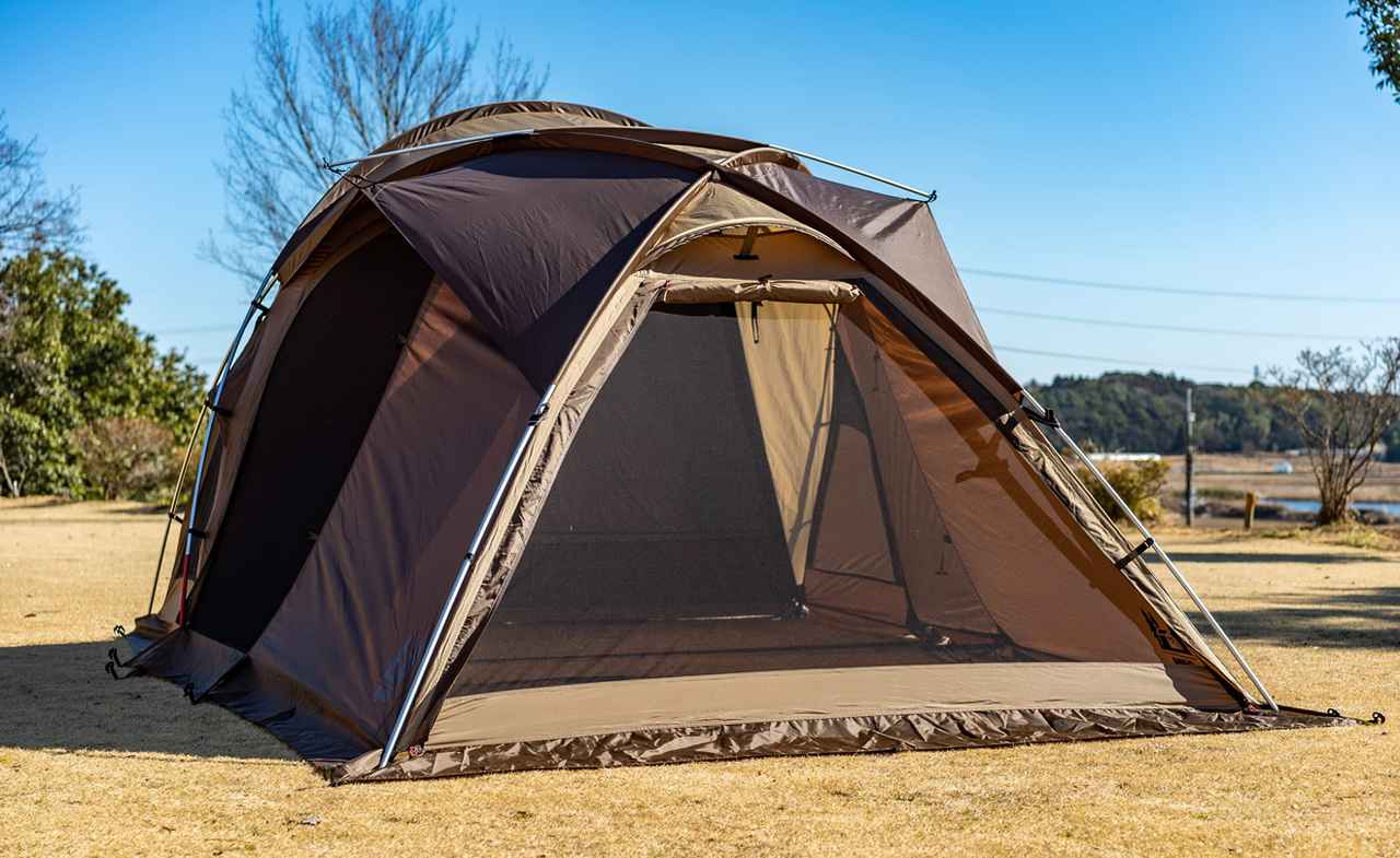 画像3: ソロキャンプでも広々快適! ogawa(オガワ)の大人気テント「ヴィガス」の設営レビュー