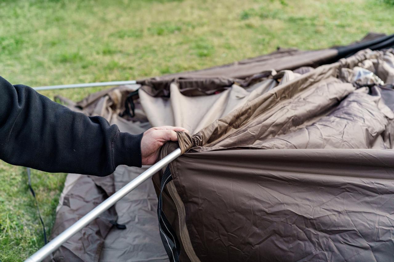画像2: ソロキャンプでも広々快適! ogawa(オガワ)の大人気テント「ヴィガス」の設営レビュー