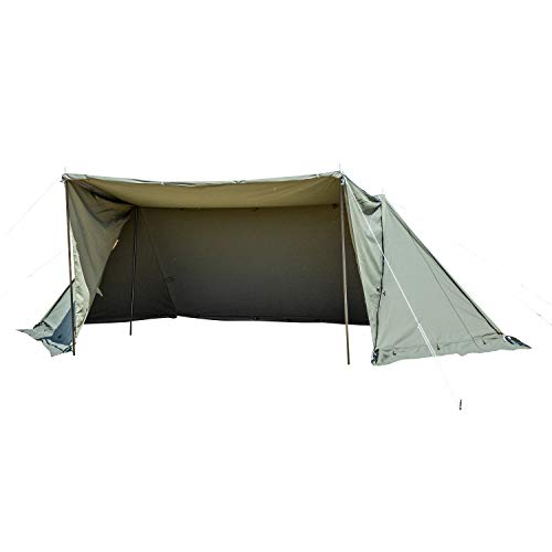 画像1: 【レビュー】バンドックのソロキャンプ用テント「ソロベースEX」で無骨キャンプを手軽に実現!