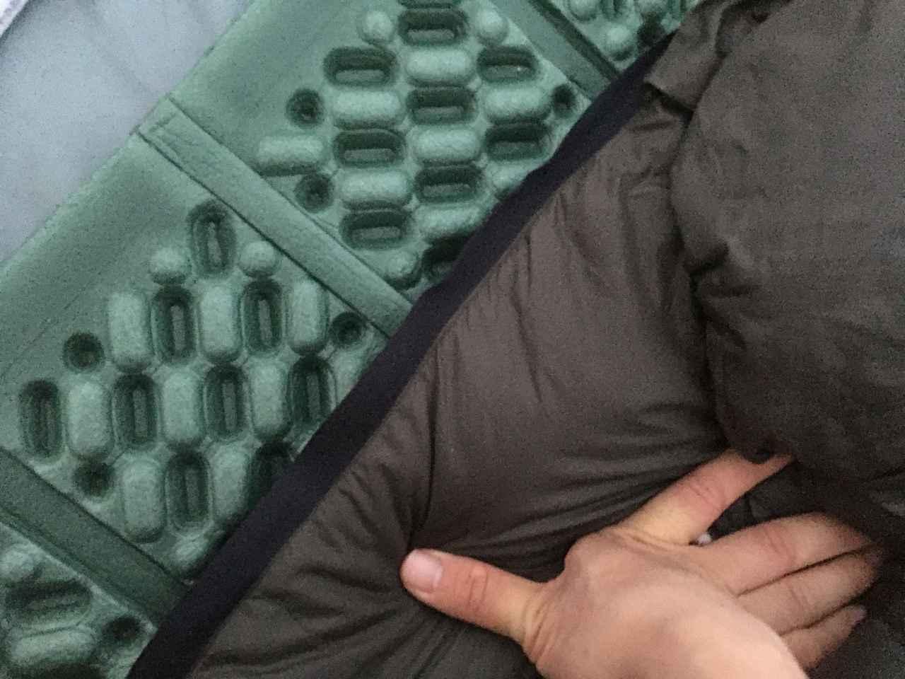 画像: 筆者撮影 マットはシュラフの下に敷いて使います。
