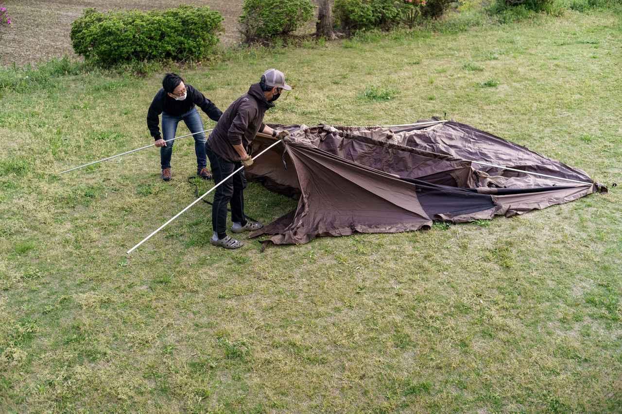 画像1: ソロキャンプでも広々快適! ogawa(オガワ)の大人気テント「ヴィガス」の設営レビュー