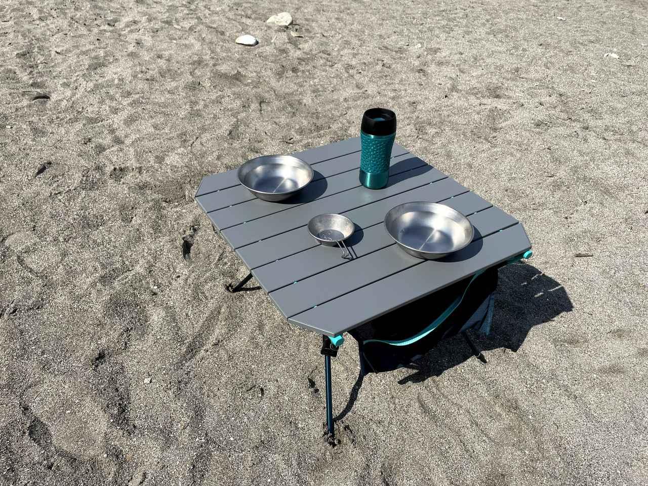 画像4: 【レビュー】QUECHUA (ケシュア) MH500の折りたたみテーブルは耐久性抜群でメイン/サブテーブルとしても使えます!