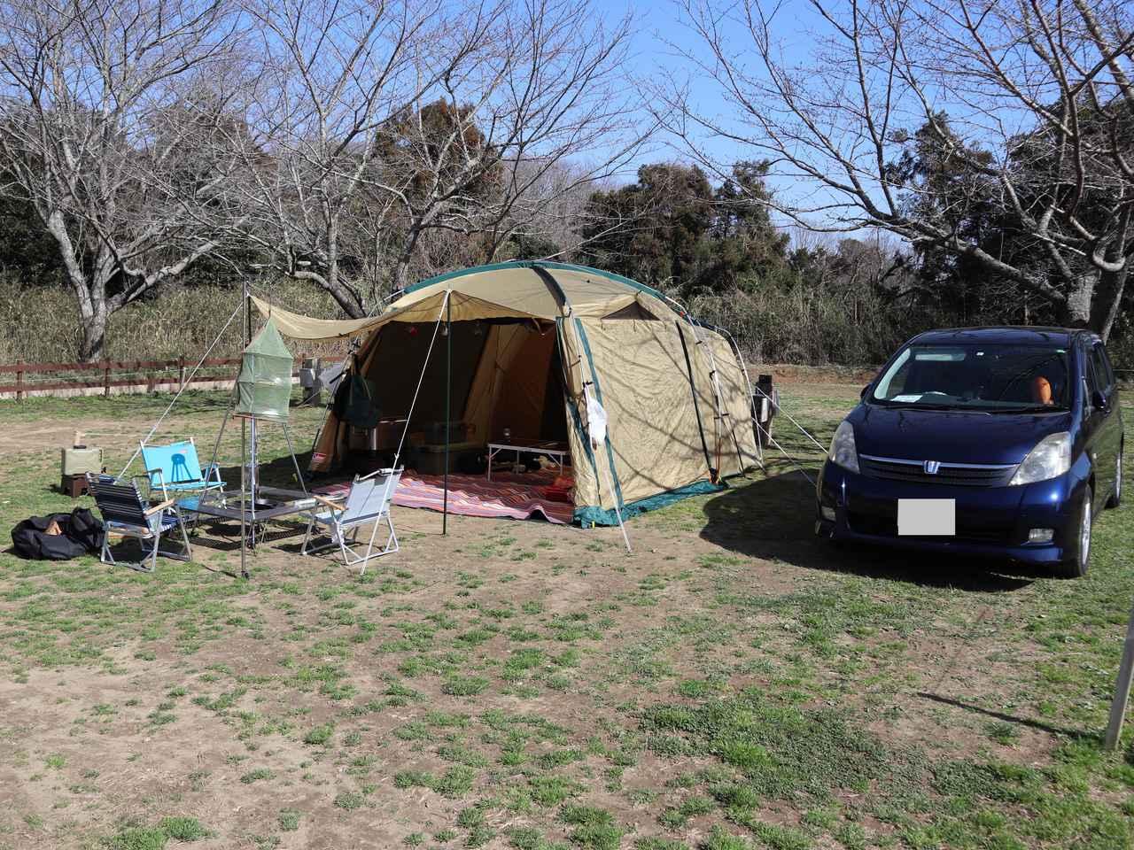 画像: 筆者撮影 オートキャンプの様子