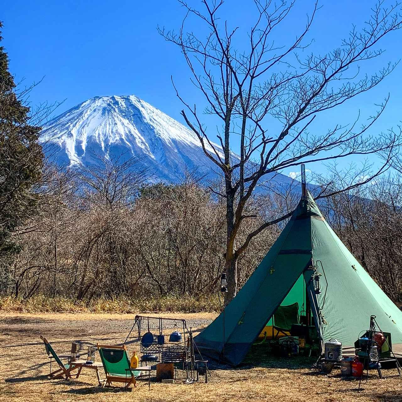画像: モノポール型テント