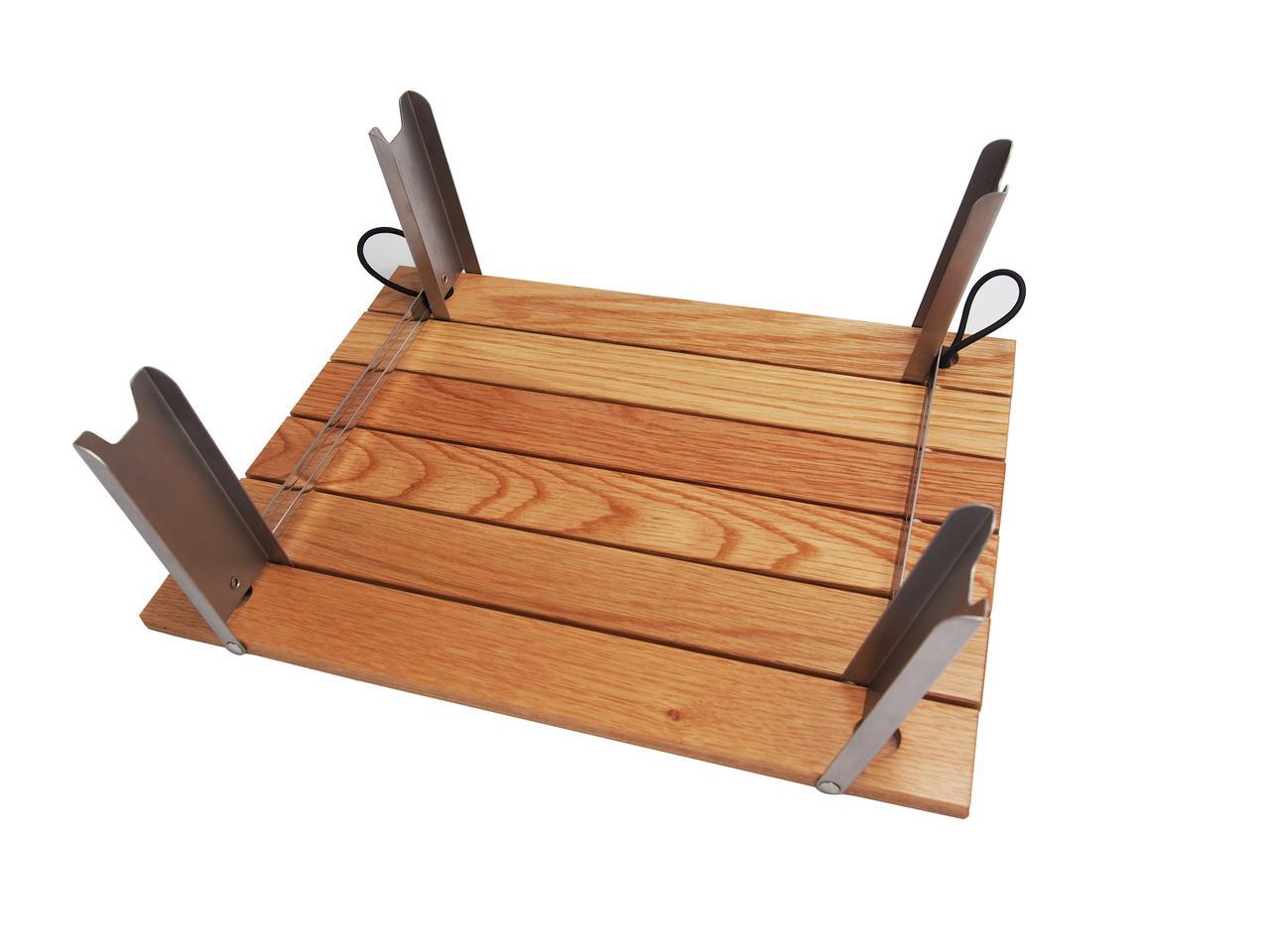 画像3: 【CAPTAIN STAG × 村の鍛冶屋】ライバルの共演!オリジナル木製ロールテーブルを9/17より限定500台発売