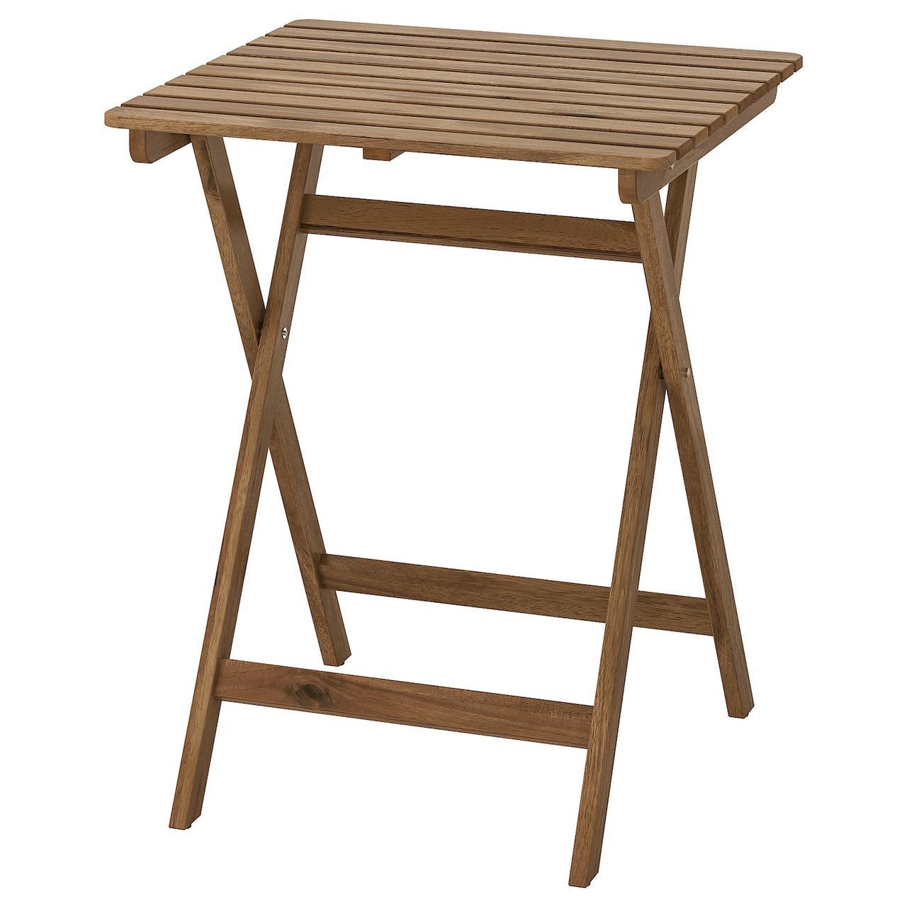 画像1: 【筆者愛用】IKEA(イケア)ウッドテーブルがディレクターチェアとマッチ!テラスでもキャンプでも使い勝手抜群