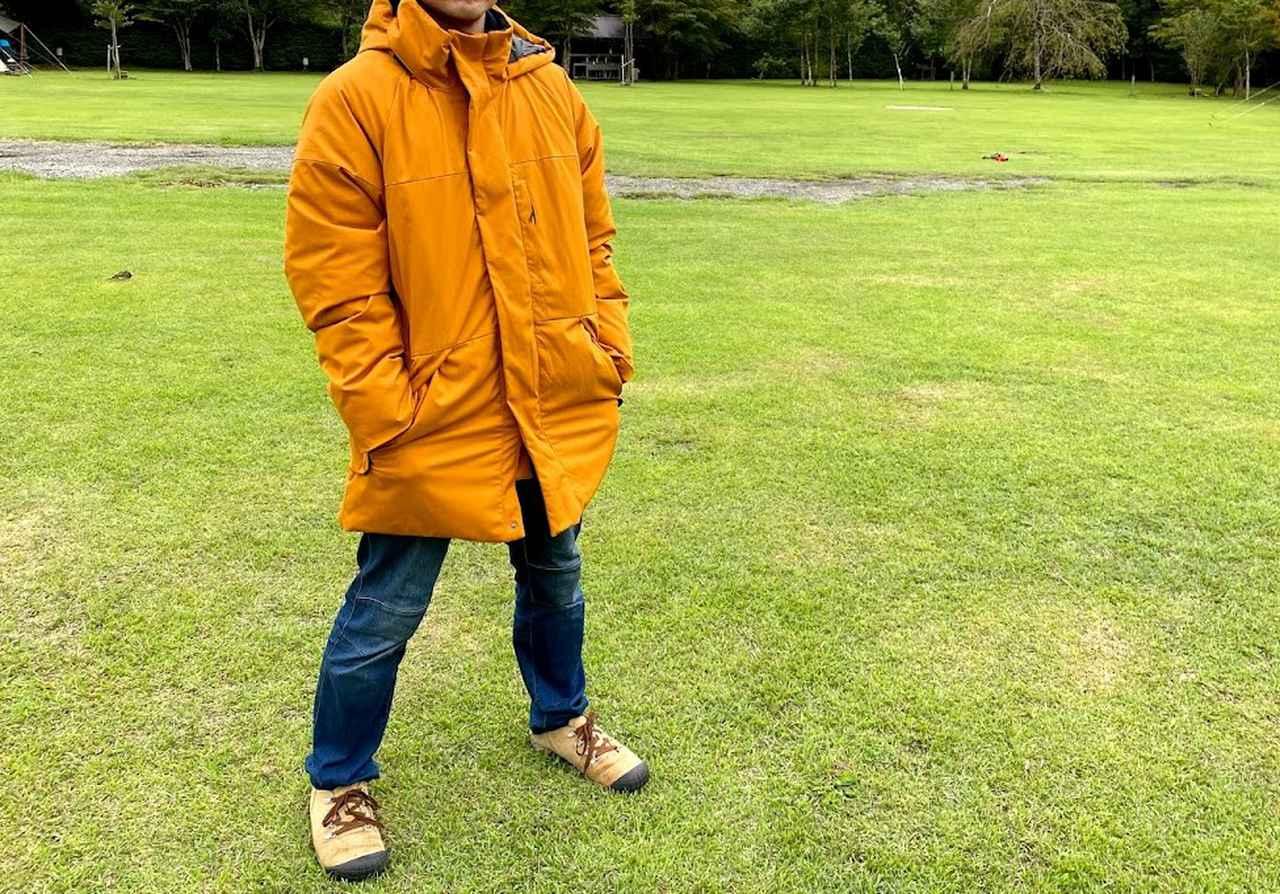 画像: 筆者撮影 身長170cm フリーサイズ・フレイムカーキ着用