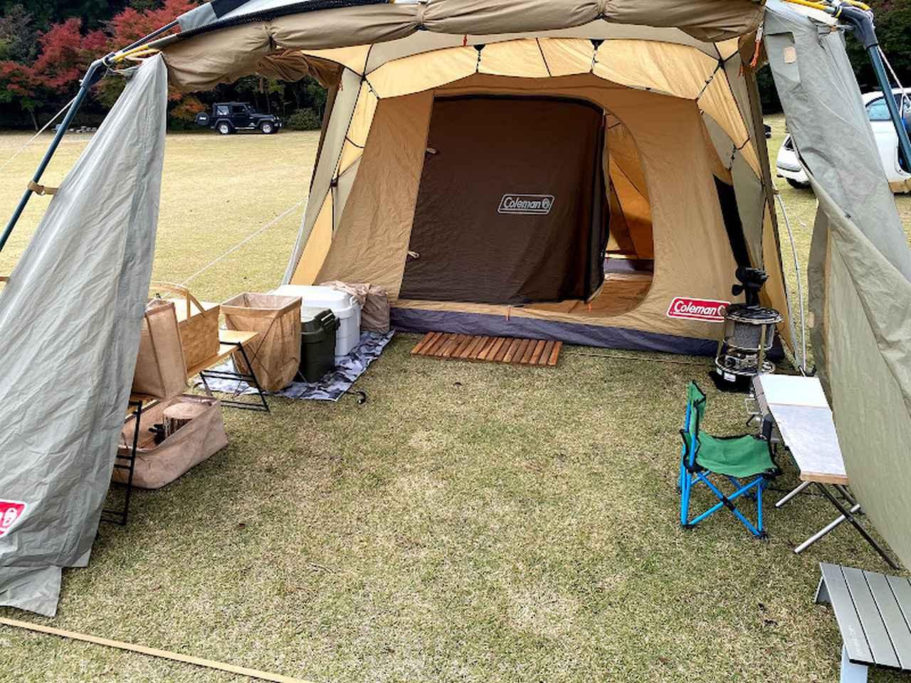 画像: 著者撮影。キャンプ初心者の頃に購入したコールマンのツールームテント。