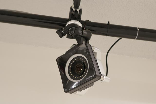 画像: モーションキャプチャー用のカメラ