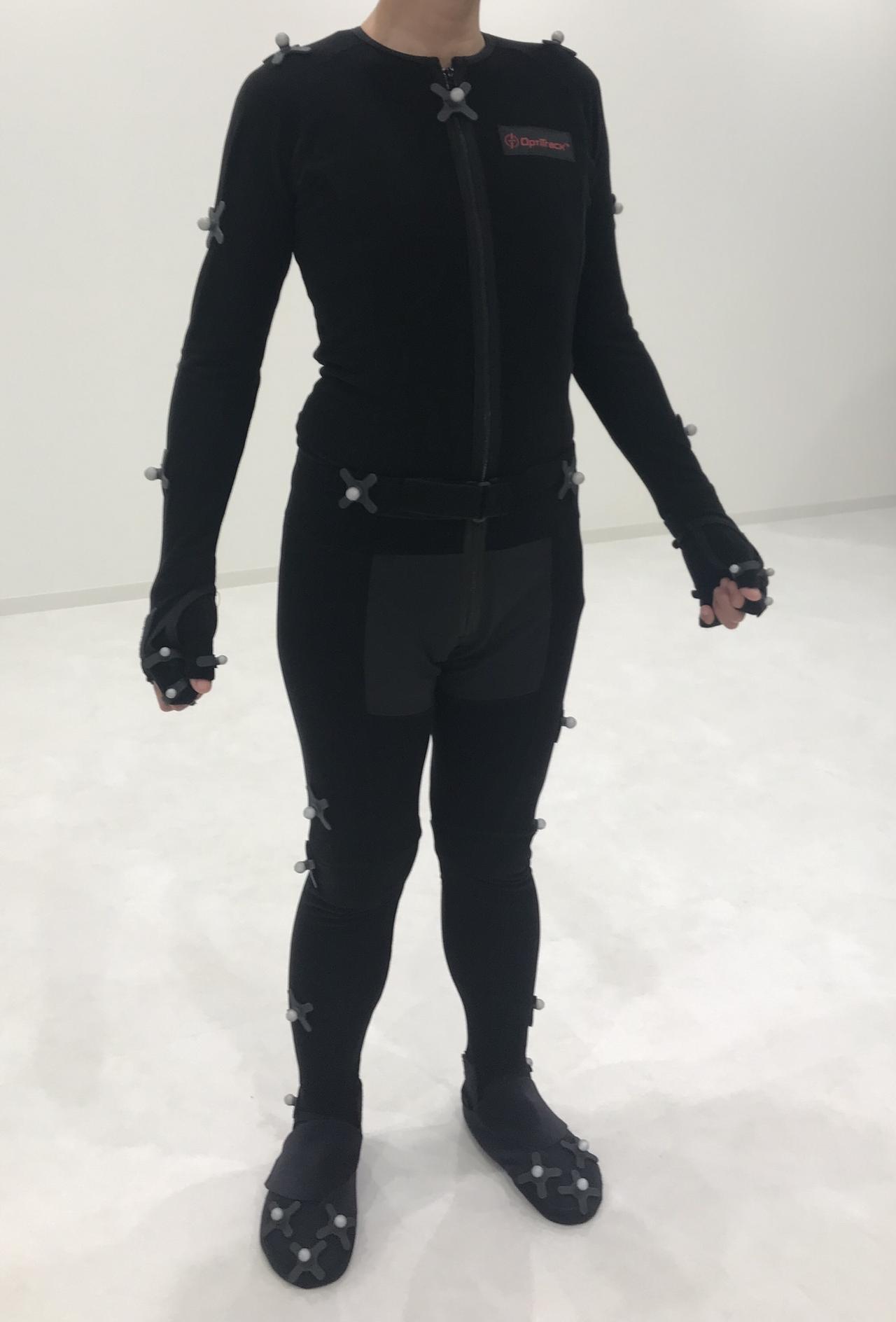 画像: モーションキャプチャー用スーツ