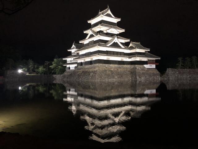 画像: ブログとは全く関係ない松本城の夜