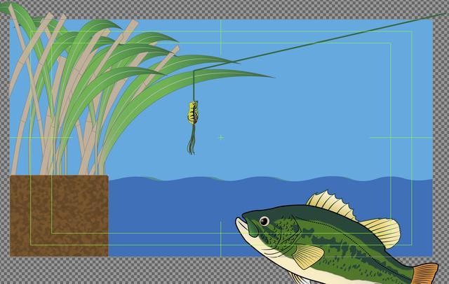 画像: 釣り人がルアーをどのように動かして魚を誘い出しているのか説明している図