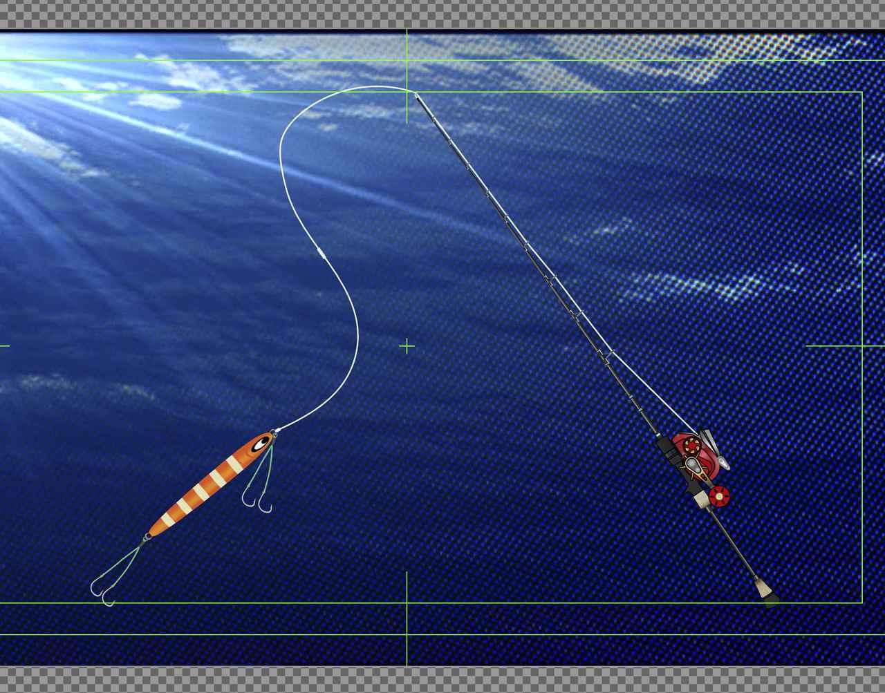 画像: 番組で使用した釣具を紹介している図
