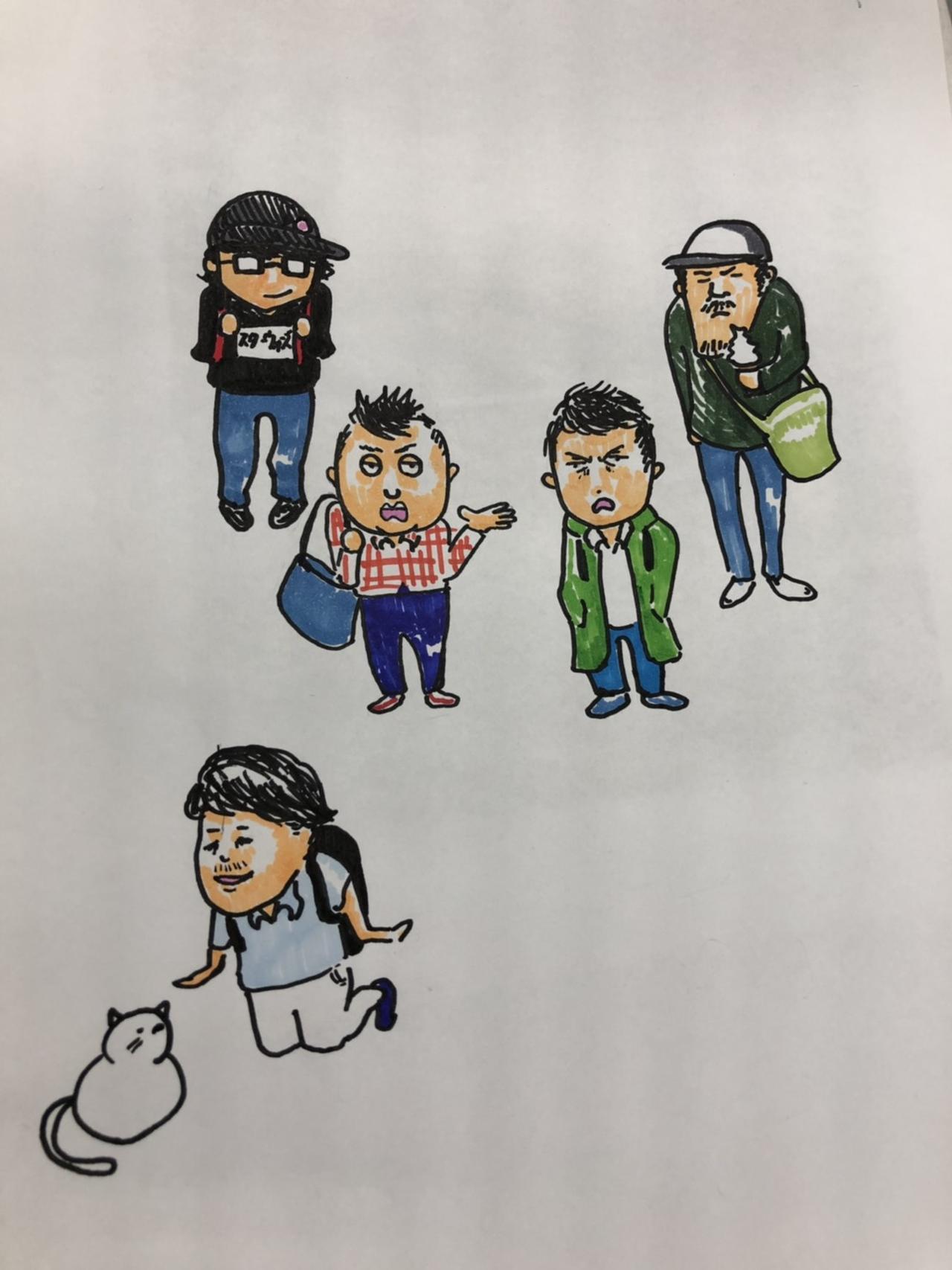 画像: 私がAD時代に描いた「ワタ住む」初期のディレクター もう卒業された方もいるけど・・・