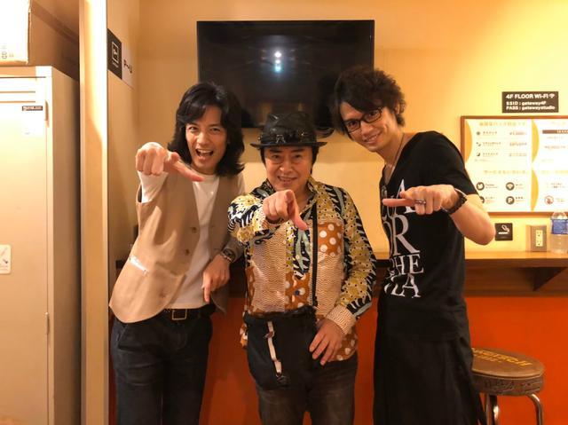 画像: 気仙空想文化祭の半田と水木さんと村上さん ameblo.jp