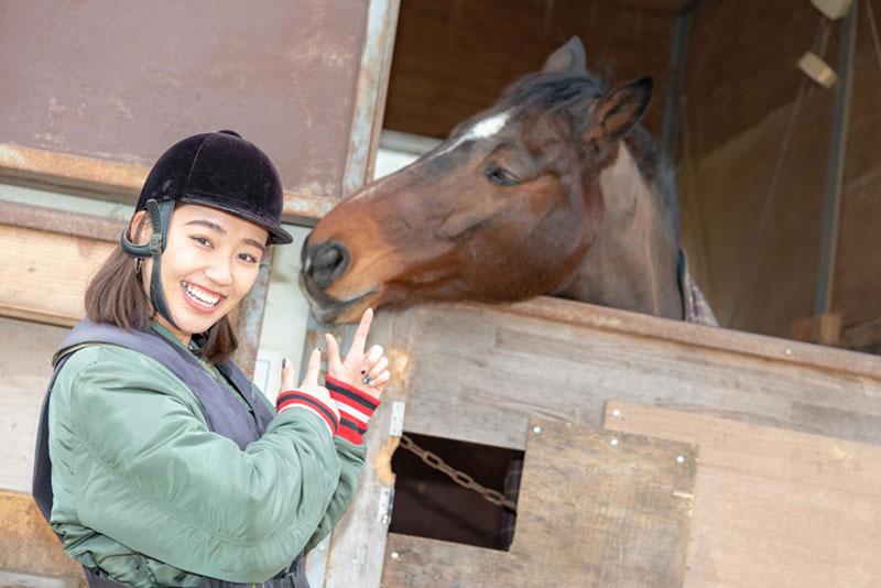 画像2: まずは馬へご挨拶!