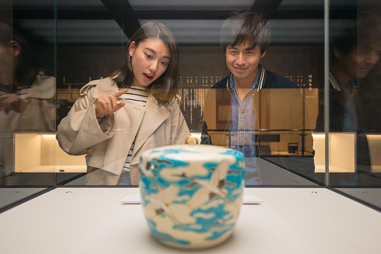 画像: 千利休にまつわる茶器がいっぱいです