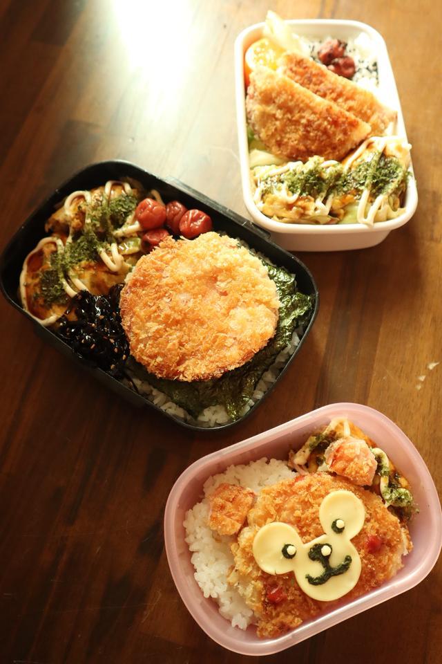 画像: ハムしかない日のお弁当。家族全員の好みに合わせて(みきママさんブログより) ameblo.jp