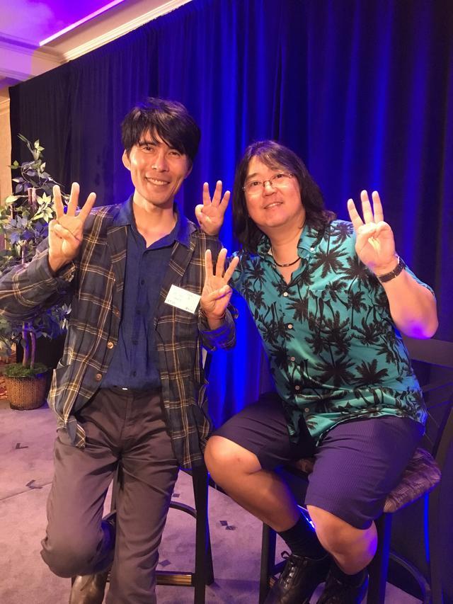 画像: バシャール&本田健ツアーで、本田健さんと記念撮影。ロサンゼルスにて