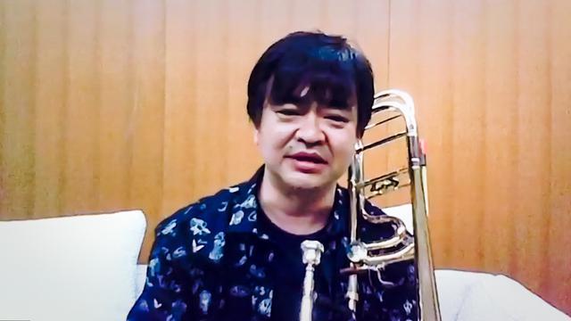 画像: トロンボーン奏者の田中宏史さん