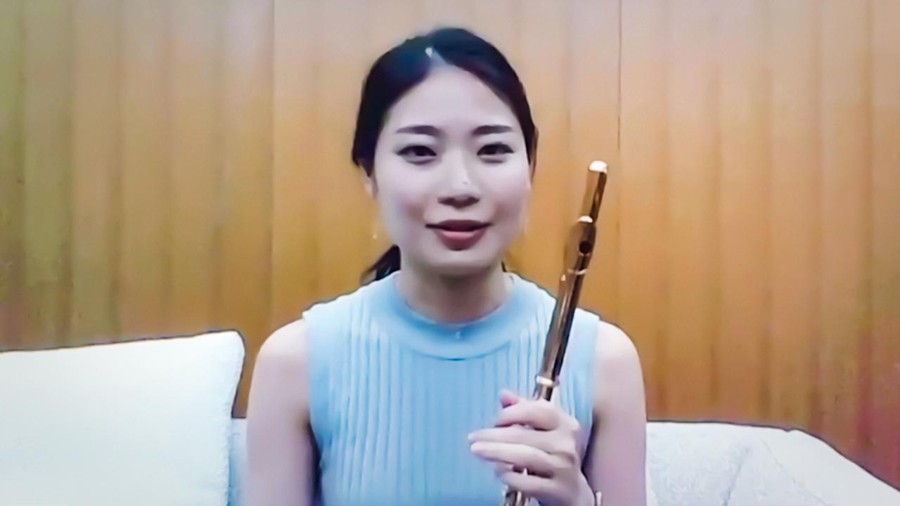 画像: フルート奏者の大久保成美さん