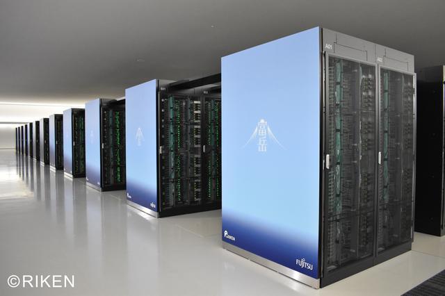 画像: スーパーコンピュータ「富岳」