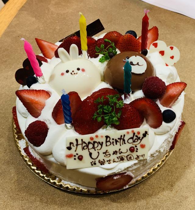 画像: ★お茶の間のアイドルUちゃんにキュートなケーキでお祝い。
