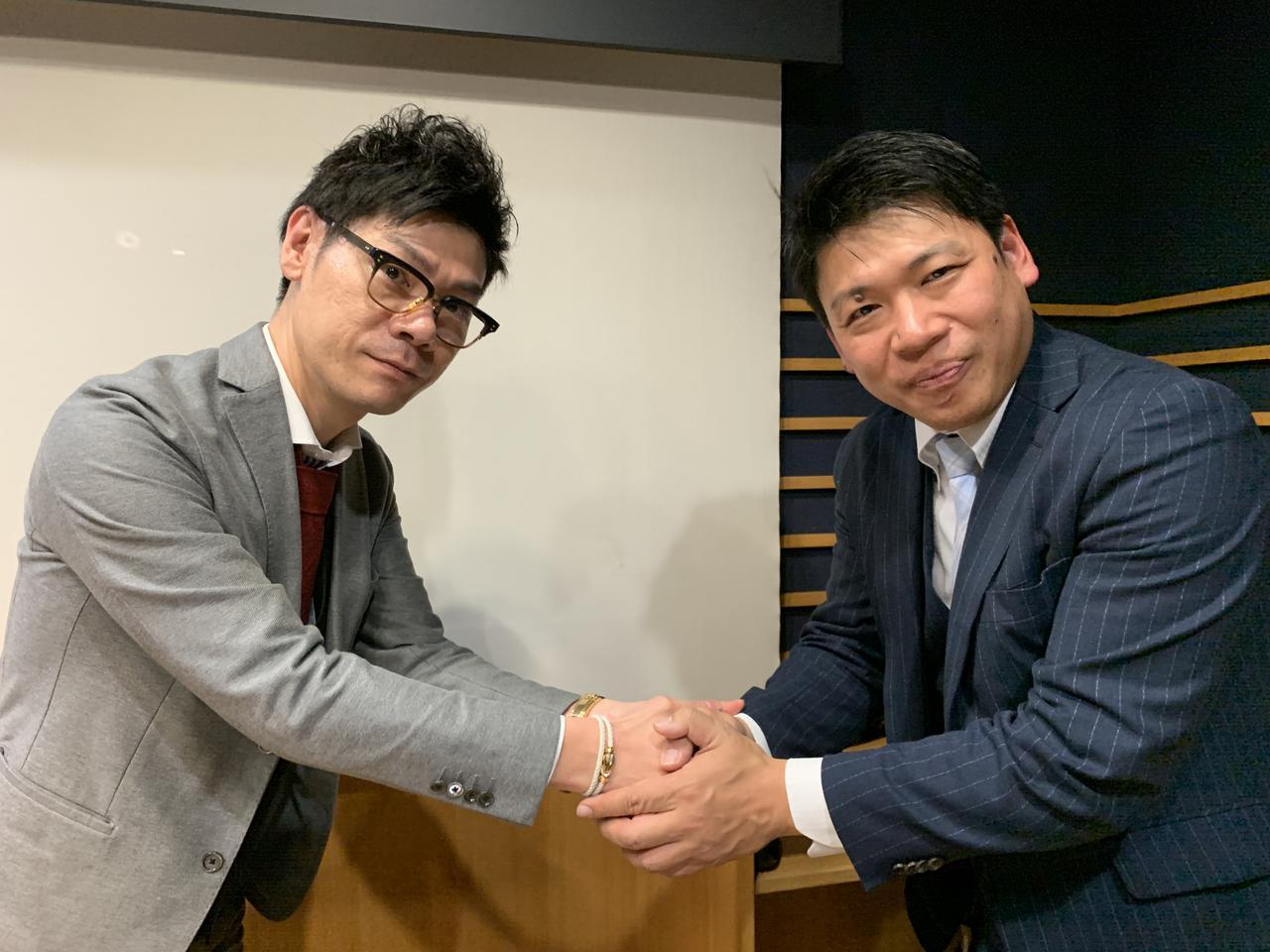 画像: ★谷さん&尾上さんは経営者つながり!ということで、かたーい握手。