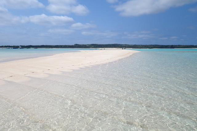 画像: 百合ヶ浜。日によって現れる時間、位置や大きさが異なる