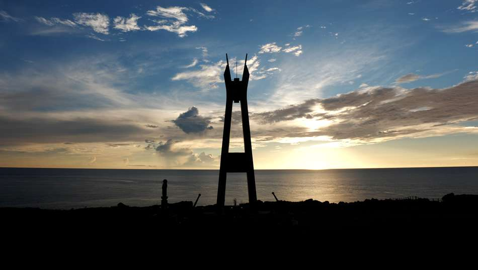 画像: 犬田布岬の戦艦大和慰霊塔
