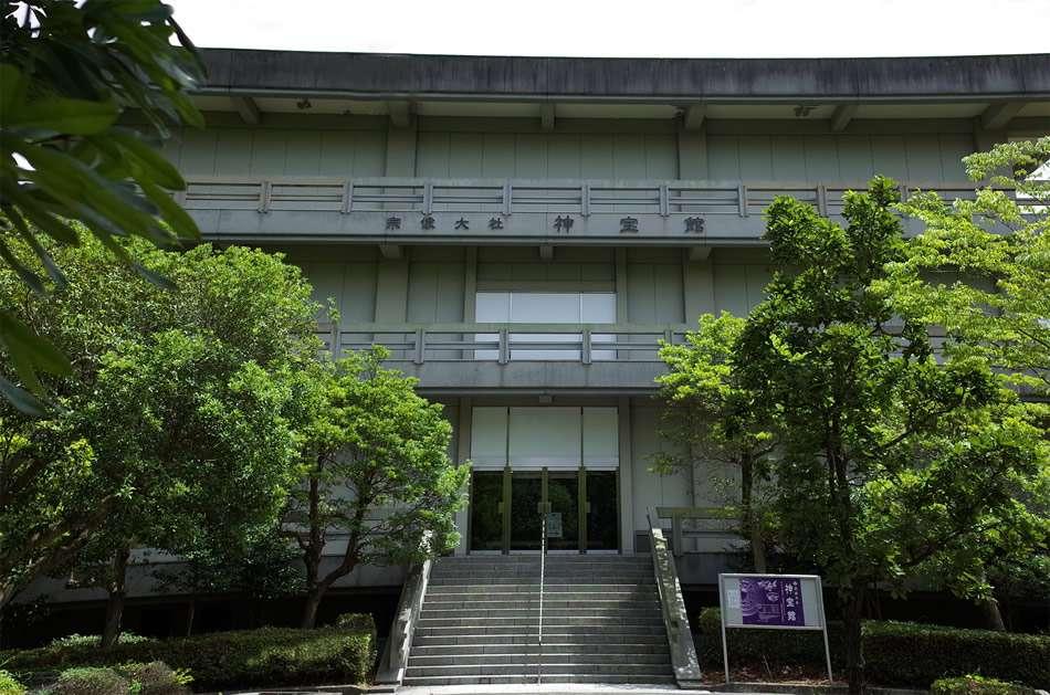 画像: 沖ノ島から出土した国宝約8万点を収蔵する「神宝館」