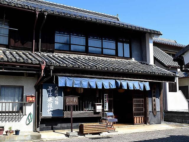 画像: 「うだつの町並み」のほぼ中心にある「茶里庵」の店構え