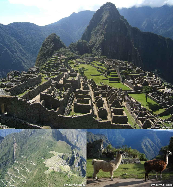 画像: アンデスの山々に囲まれた空中遺跡「マチュ・ピチュ」。