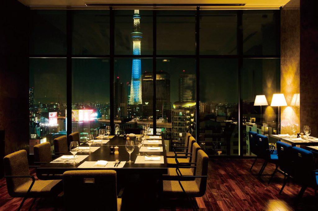 画像1: 東京スカイツリーを望むラグジュアリーなホテルレストラン