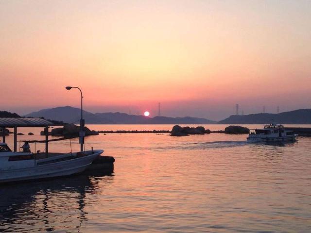 画像: 犬島の夕日
