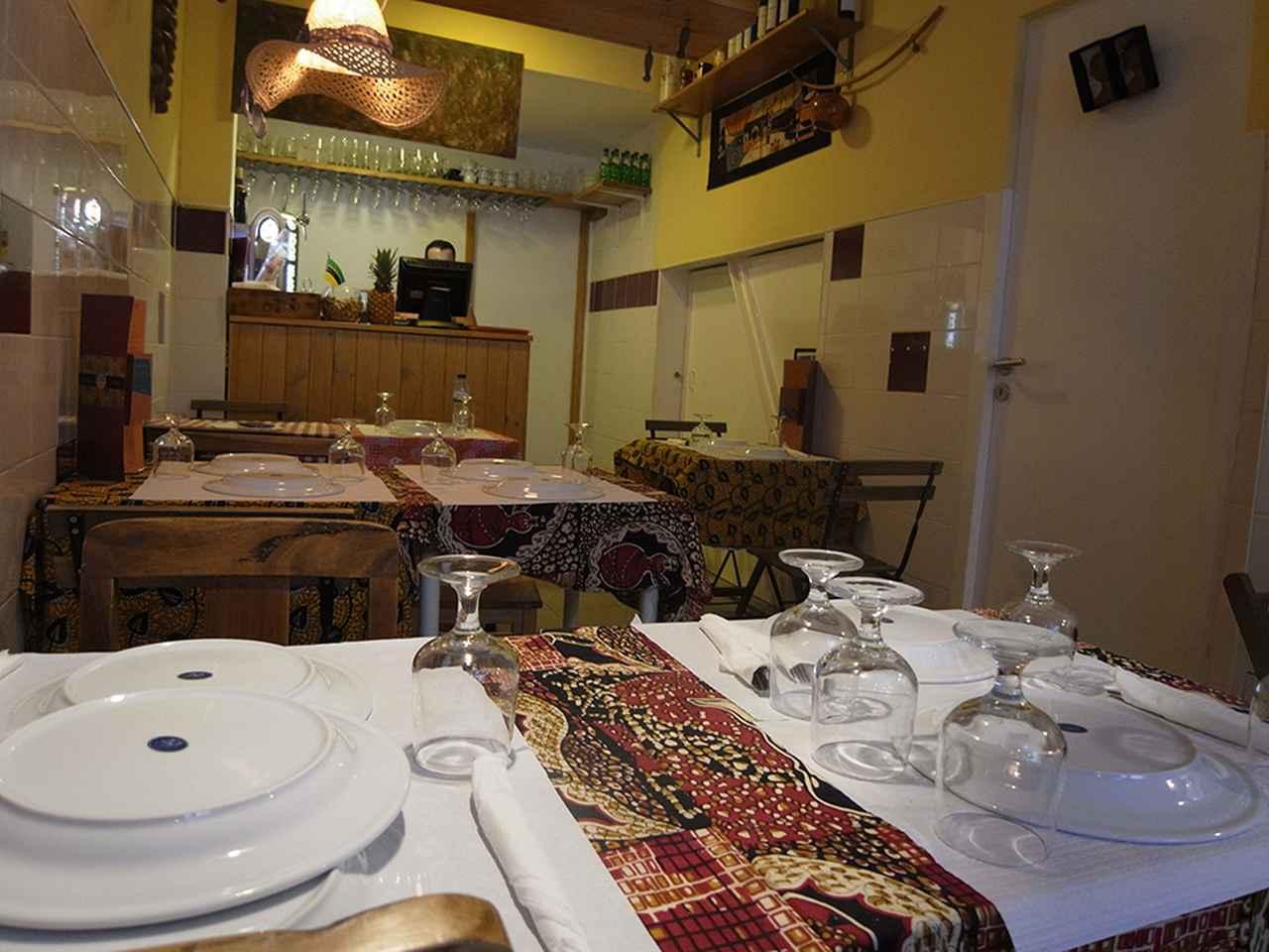 画像: ポルトガルのアフリカ料理店「Roda Viva」内観
