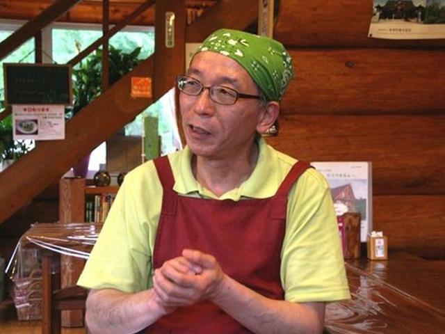 画像: ご主人は田口一彦さん。大阪出身で、美瑛へ移住してきました。田口さんは、畑で野菜も作っているそう。