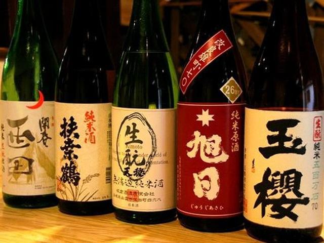 画像: 日本酒は島根を中心としたラインナップ。基本的に380円!(120cc) 東京だと、2倍くらいが相場です。