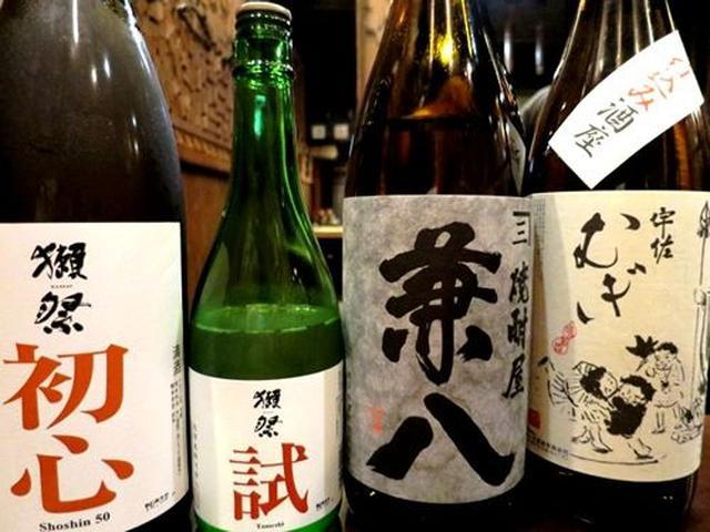 画像: 純米酒好きと言ったら、持ってきてくださったのが、こちら。知らなかった・・・。山口の地酒「獺祭」に初心とか試とかあるのを(驚)。