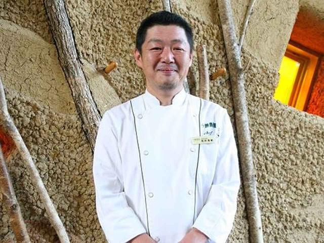 画像: 総料理長の馬渕善範さん。