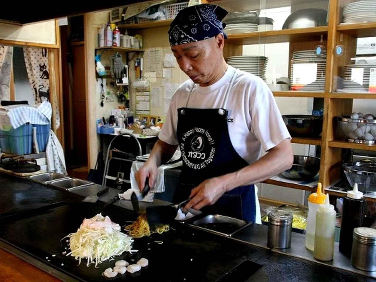 画像: さっそく広島風お好み焼きを作って頂きましょう。 オーダーしたのは「ミックス そば」。
