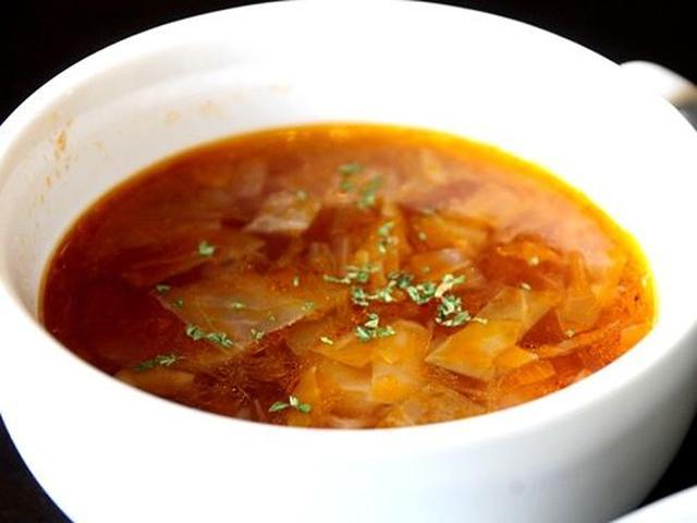 画像: スープは、今回はミネストローネでした。いろいろ変わるそう。