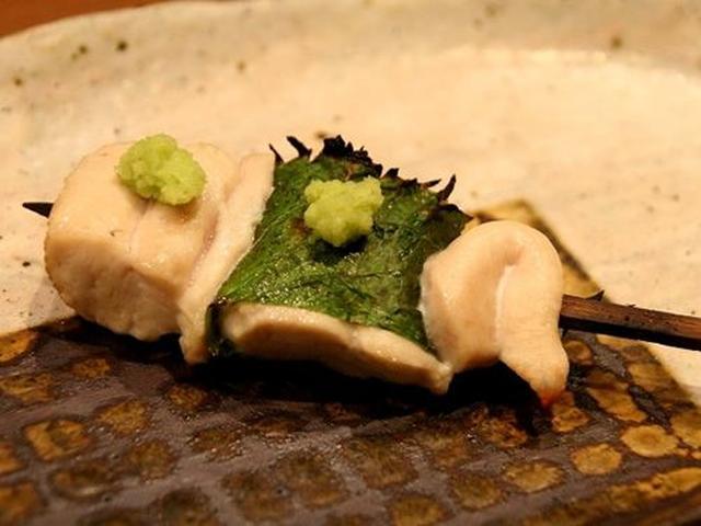 画像: ささみは、柔らかく、あっさりとした味わい。大葉と本わさびが合いますね。