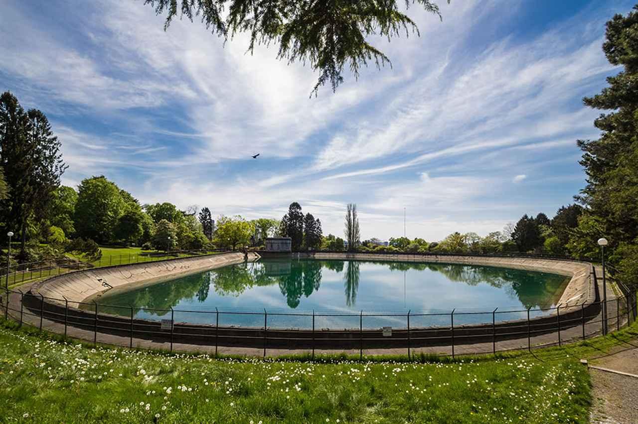 画像: ボランティア・パークにある貯水池 写真提供:shutterstock