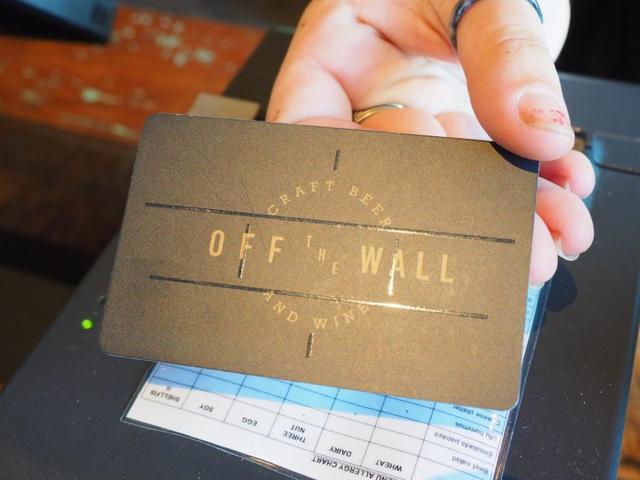 画像: 専用のカード。カードは会計時に必要なので失くさないように気をつけて