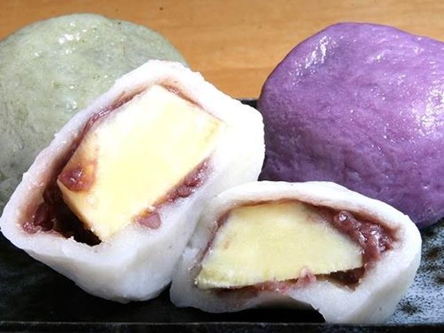 画像: 大きくて、ひとつでおなかいっぱいになってしまうほど。白、紫芋、よもぎがあります。